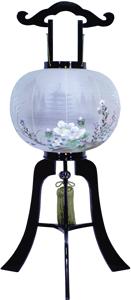 盆提灯-大内行灯 二重張り 本塗り 「五重の塔」 尺二(12号)