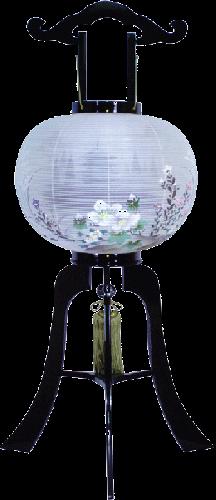 盆提灯-大内行灯 二重張り 本塗り 「五重の塔」 尺二(12号)の画像1