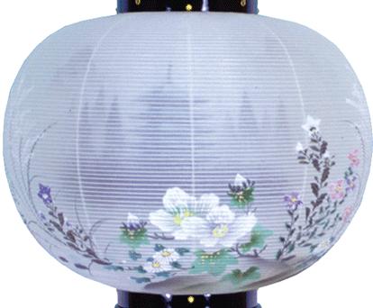 盆提灯-大内行灯 二重張り 本塗り 「五重の塔」 尺二(12号)の画像2