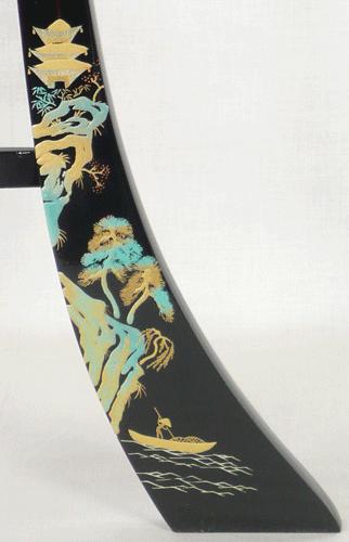 盆提灯-大内行灯 二重張り 本金蒔絵 「京山水」 尺二(12号)の画像3