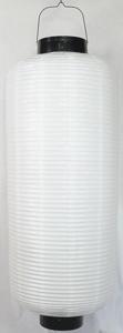 白ビニール提灯 長型 博多長桜