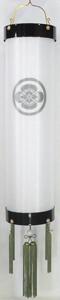 盆提灯-住吉提灯 二重張り 本塗り 無地 尺(10号) 家紋代込み