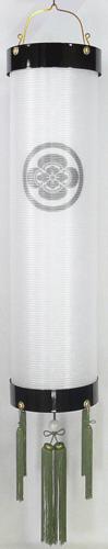盆提灯-住吉提灯 二重張り 本塗り 無地 尺(10号) 家紋代込みの画像1