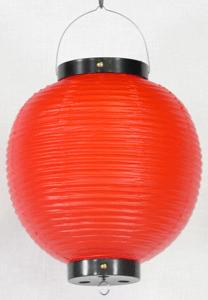 赤ビニール提灯 丸型 八寸丸(8号)
