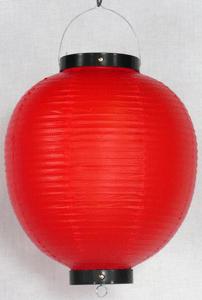 赤ビニール提灯 丸型 尺丸(10号)