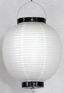 白ビニール提灯 丸型 八寸丸(8号)