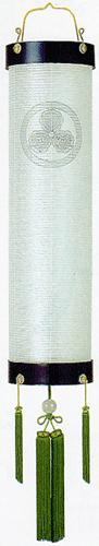 盆提灯-住吉提灯 絹張り 本塗り 無地 尺二(12号) 家紋代込みの画像1