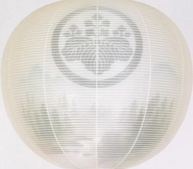 盆提灯-門提灯 二重張り 「山水」 尺五(15号) 家紋・家名代無料の画像1