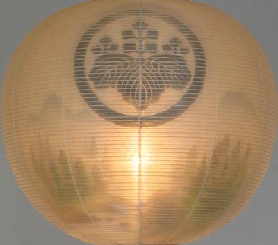 盆提灯-門提灯 二重張り 「山水」 尺五(15号) 家紋・家名代無料の画像2