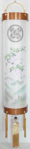 盆提灯-住吉提灯 二重張り 欅 「藤山水」 九寸(9号)の画像1