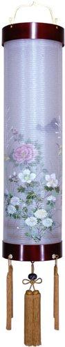盆提灯-住吉提灯 二重張り 桜 「牡丹芙蓉」 九寸(9号)の画像1