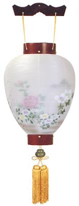 盆提灯-別撰・御所提灯 二重張り 桜 「牡丹芙蓉」の画像1