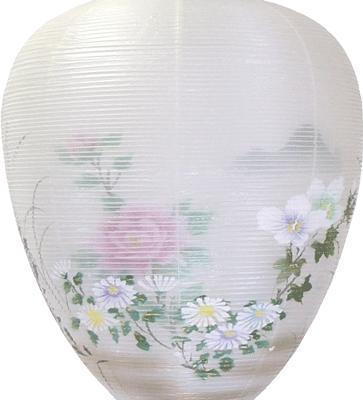 盆提灯-別撰・御所提灯 二重張り 桜 「牡丹芙蓉」の画像2