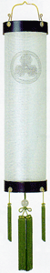 盆提灯-住吉提灯 絹張り 本塗り 無地 七寸(7号) 家紋代込み