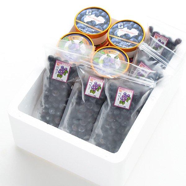 アイス10個と冷凍ブルーベリー5個のセット