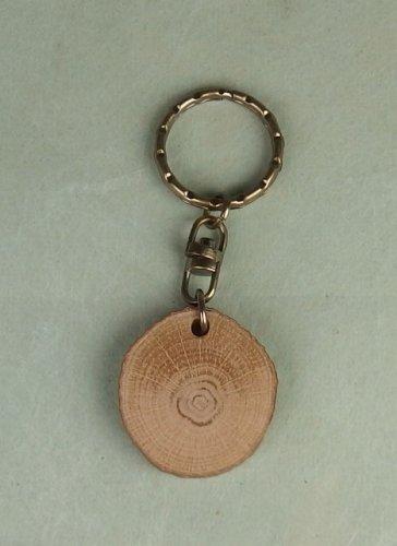 カシの木の輪切り板(小):アンティークゴールド色金具付