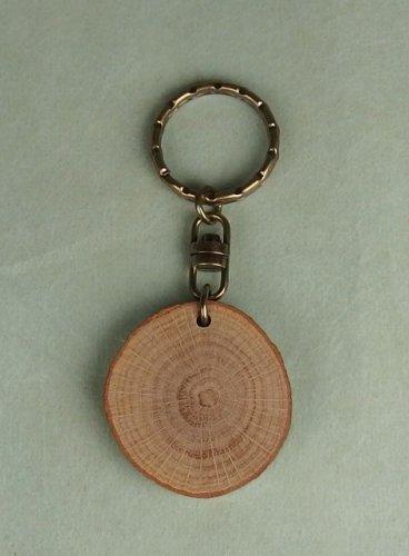 カシの木の輪切り板(中):アンティー...