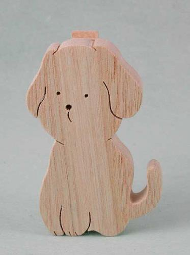 立てて使うメモクリップ:犬
