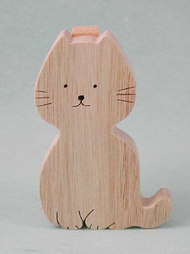 立てて使うメモクリップ:猫