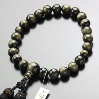 数珠 男性用 22玉 金黒曜石 正絹房 101220196 送料無料