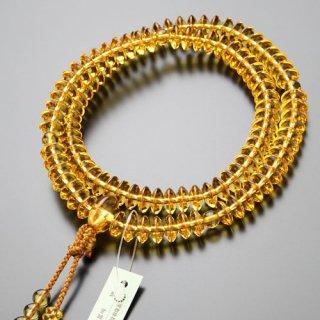 天台宗 数珠 女性用 8寸 黄水晶 梵天房 2000400700102 送料無料