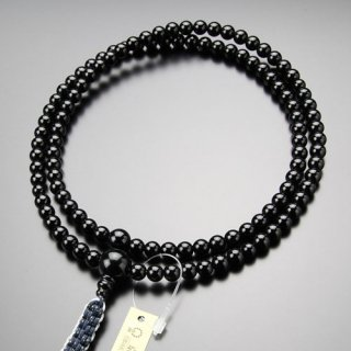 臨済宗 数珠 男性用 尺二 黒オニキス 紐房 101990003 送料無料