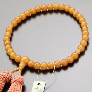 数珠 女性用 約7ミリ オレンジアベンチュリン 正絹房 2000200301820
