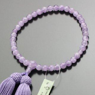 数珠 女性用 約7ミリ 藤雲石 正絹房 2000200301837 送料無料