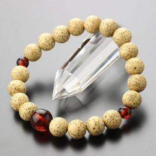 数珠ブレスレット 約9×10ミリ 星月菩提樹 チェリー琥珀 2000800401364 送料無料