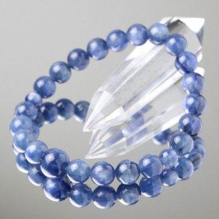 数珠ブレスレット カイヤナイト 約8ミリ ブラジル産 107080143 送料無料