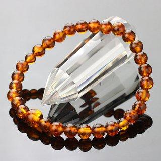数珠ブレスレット 約6ミリ 琥珀 107060048 送料無料