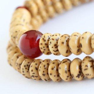 数珠 ブレスレット 108玉 星月菩提樹 瑪瑙【腕輪念珠 数珠ブレス 108珠 アゲート 107000075】【送料無料】