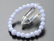 数珠ブレスレット 約8ミリ ブルーレース【腕輪念珠 ブルー】