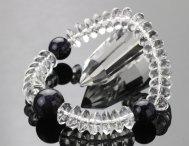 数珠 ブレスレット 天台 平玉 本水晶 紫金石 【腕輪念珠 ブルーゴールドストーン パワーストーン お守り 天然石】【送料無料】