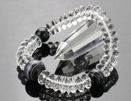 数珠 ブレスレット 天台 平玉 本水晶 黒縞瑪瑙 【数珠ブレスレット 腕輪念珠 レースアゲート】【送料無料】