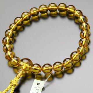数珠 男性用 22玉 黄水晶 正絹房 101220068 送料無料