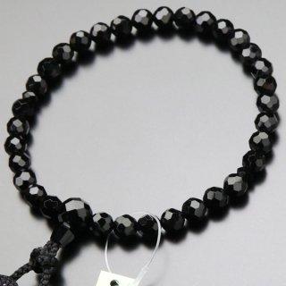 数珠 女性用 切子 黒オニキス 正絹房 102000037 送料無料