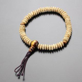 数珠ブレスレット 平玉 星月菩提樹 虎目石 ボサ付 107000052