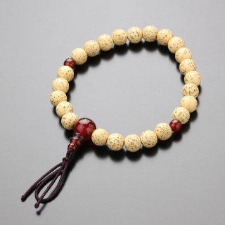 数珠ブレスレット 尺二玉 星月菩提樹 瑪瑙 ボサ付 107080066