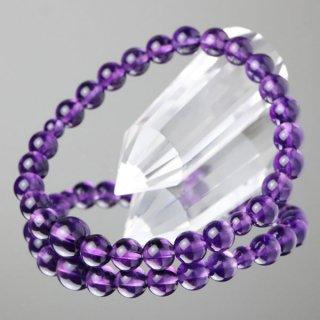 数珠ブレスレット 紫水晶 約7ミリ 5A´ 107070031 送料無料