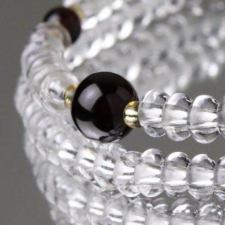 数珠ブレスレット 108玉 みかん玉 本水晶 ガーネット 107000069 送料無料