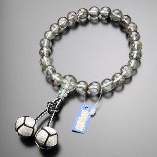 【写真現品お届け】数珠 男性用 22玉 ガーデンクォーツ 2色釈迦梵天房 2000100800652 送料無料