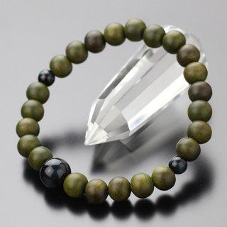 数珠ブレスレット 約8ミリ 緑檀 青虎目石 107080080