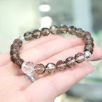 数珠ブレスレット 約8ミリ カット茶水晶 カット水晶仕立【腕輪念珠 パワーストーン】