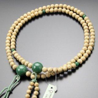 日蓮宗 数珠 男性用 尺二 星月菩提樹 印度翡翠 梵天房 2000300400331 送料無料