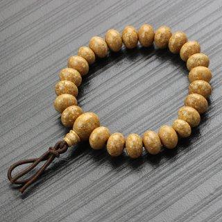 数珠ブレスレット 約7.5×11ミリ みかん玉 天竺菩提樹 ボサ付 2000800401470 送料無料