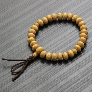 数珠ブレスレット 約6×8.5ミリ みかん玉 天竺菩提樹 ボサ付 2000800401463 送料無料