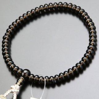 数珠 女性用 みかん玉 茶水晶 正絹2色房 102000035 送料無料