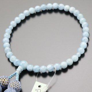 数珠 女性用 約7ミリ 3A アクアマリン 正絹房 2000200402183 送料無料
