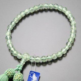 数珠 女性用 約7ミリ プレナイト 正絹弥勒房 2000200600947 送料無料
